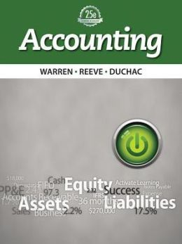 accounting warren reeve duchac ch 12 Find great deals on ebay for accounting warren reeve duchac in education textbooks shop with confidence.