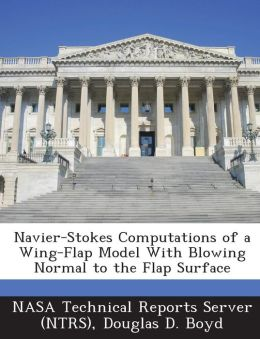 Navier-Stokes Computations of a Wing-Flap Model with Blowing Normal to the Flap Surface