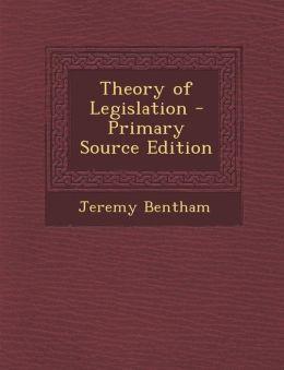 Theory of Legislation