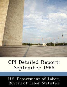 CPI Detailed Report: September 1986