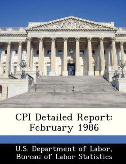CPI Detailed Report: February 1986