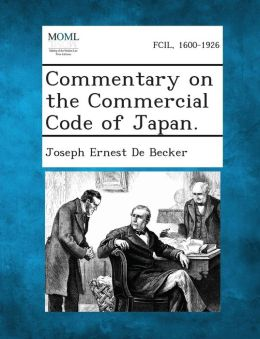 Commentary on the Commercial Code of Japan.