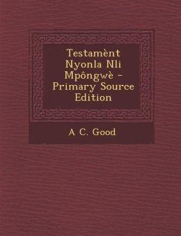 Testament Nyonla Nli Mpongwe