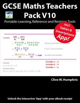 GCSE Maths Teachers Pack V10 Portable Learning, Reference and Revision Tools