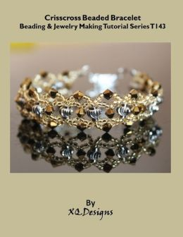 Crisscross Beaded Bracelet Beading & Jewelry Making Tutorial Series T143