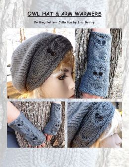 Owl Hat & Arm Warmers - Knitting Pattern