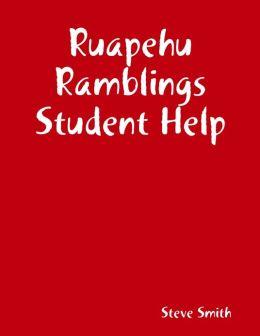 Ruapehu Ramblings Student Help