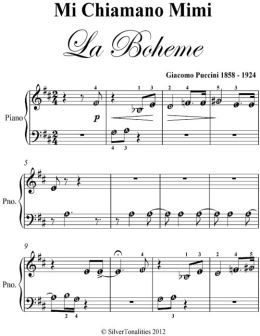 Mi Chiamano Mimi La Boheme Beginner Piano Sheet Music