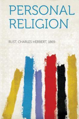 Personal Religion