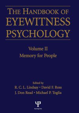 Handbook Of Eyewitness Psychology 2 Volume Set