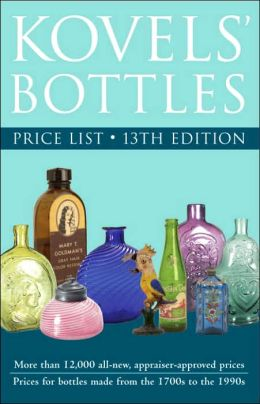 Kovels' Bottles Price List