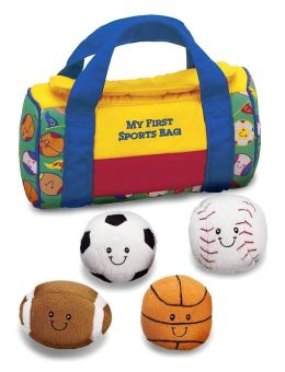 My First Sports Bag Plush Playset