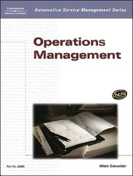 Automotive Service Management: Operations Management