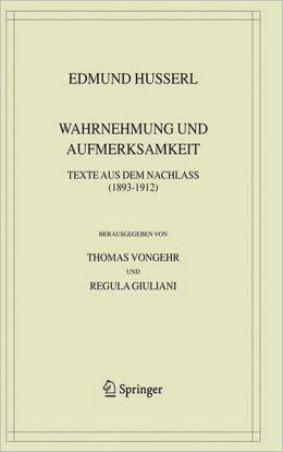 Wahrnehmung und Aufmerksamkeit: Texte aus dem Nachlass (1893-1912)