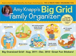 2012 Amy Knapp's Big Grid Family Organizer Wall Calendar