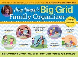 2015 Amy Knapps Big Grid Family Wall Calendar