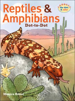 Reptiles & Amphibians Dot-to-Dot: Connect the Dots & Color