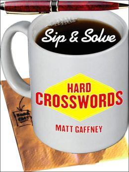 Sip & Solve: Hard Crosswords