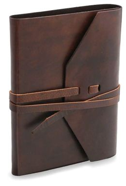 Rustic Brown Italian Leather Journal with Tie 5