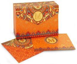 Paisley Monogram Note Card M Set of 10