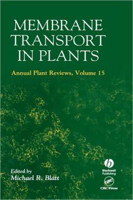 Membrane Transport In Plants V