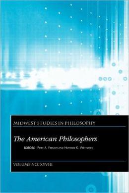 Midwest Studies in Philosophy, The American Philosophers