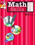 Book Cover Image. Title: Math Skills:  Grade 4 (Flash Kids Harcourt Family Learning), Author: Flash Kids Editors