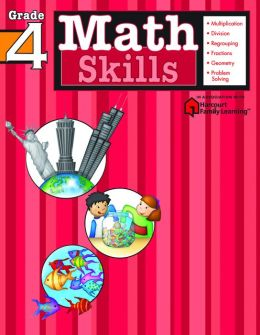 Math Skills: Grade 4 (Flash Kids Harcourt Family Learning)