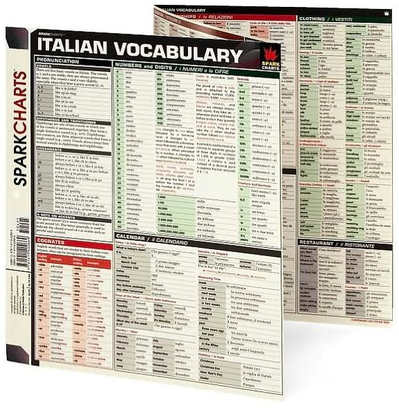 Italian Vocabulary (SparkCharts)