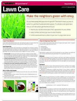 Lawn Care Basics (Quamut)
