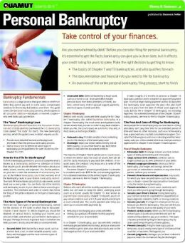 Personal Bankruptcy (Quamut)