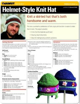 Knitting: Helmet Style Knit Hat (Quamut)