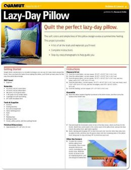 Quilting: Lazy Day Pillow (Quamut)