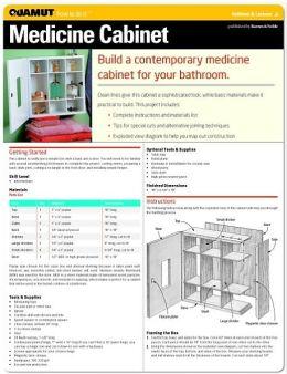 Woodworking: Medicine Cabinet (Quamut)
