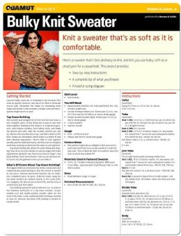Knitting Project: Bulky Knit Sweater (Quamut)