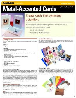 Paper Crafts Project: Metallic-Accented Cards (Quamut)