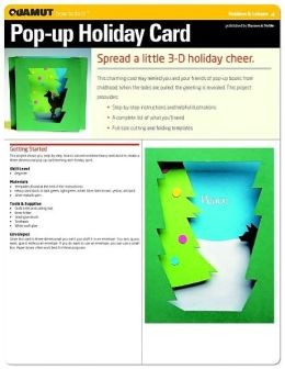 Paper Crafts Project: Pop-up Holiday Card (Quamut)