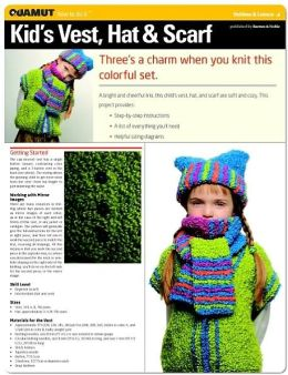 Knitting Project: Kid's Vest, Hat & Scarf (Quamut)