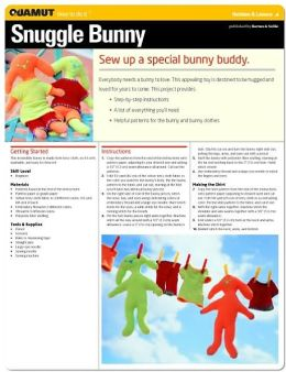 Sewing Project: Snuggle Bunny (Quamut)
