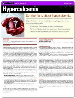 Hypercalcemia (Quamut)