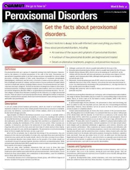 Peroxisomal Disorders (Quamut)