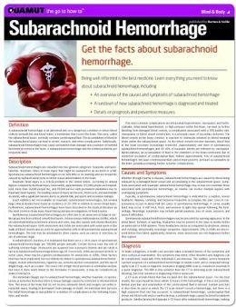 Subarachnoid Hemorrhage (Quamut)