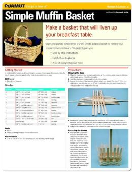 Basketry Project: Simple Muffin Basket (Quamut)