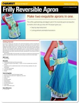 Sewing Project: Frilly Reversible Apron (Quamut)