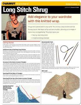 Knitting Project: Long Stitch Shrug (Quamut)
