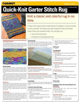Knitting Project: Quick Knit Garter Stitch Rug (Quamut)