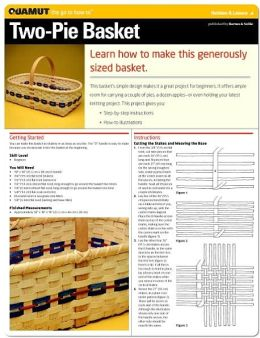 Basketry Project: Two Pie Basket (Quamut)