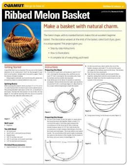 Basketry Project: Ribbed Melon Basket (Quamut)
