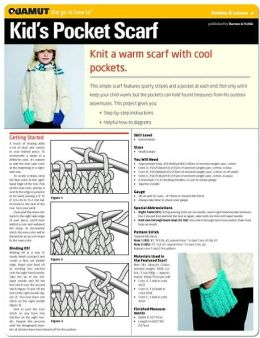 Knitting Project: Kids Pocket Scarf (Quamut)