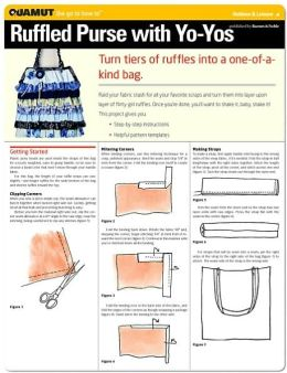 Sewing Project: Ruffled Purse with Yo-Yos (Quamut)